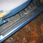 Remove the door sill trim
