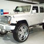 Jeep Wrangler on 28's Left Front