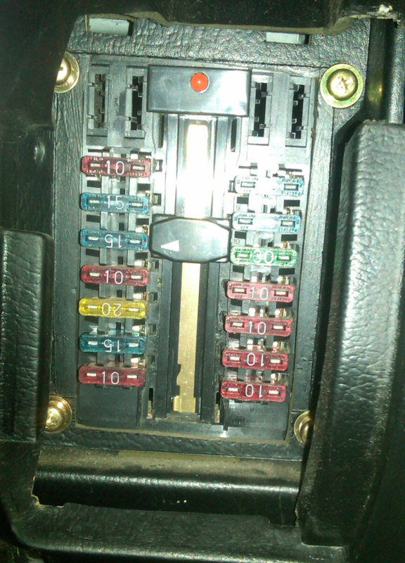 88 s10 fuse box the 1988 conquest had a sweet fuse box  1a auto blog  the 1988 conquest had a sweet fuse box