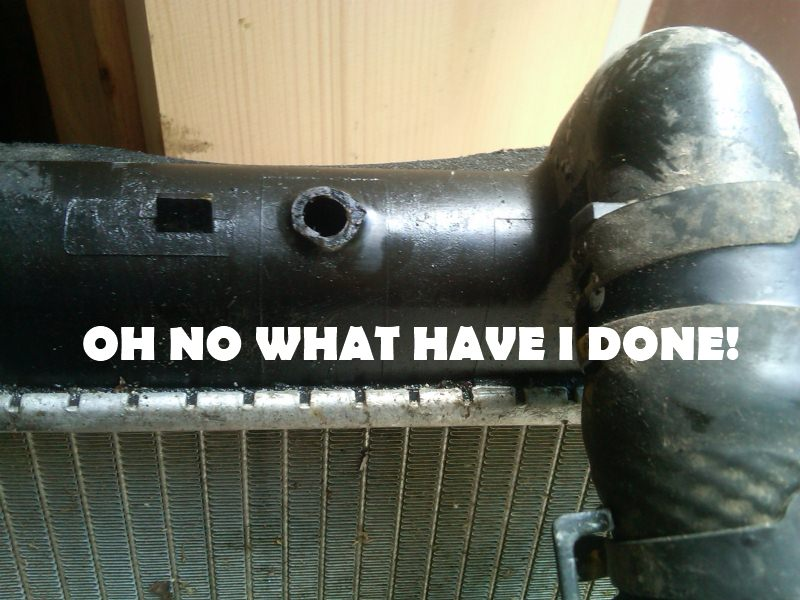 What To Do When You Break The Plastic Radiator. - 1A Auto Blog
