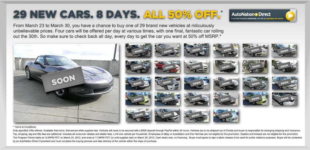 Brand New Cars Being Listed At 50% Off MSRP On eBay Right Now ...
