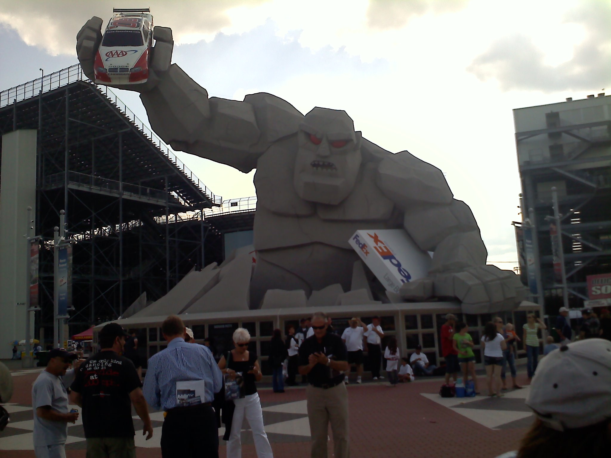 The Monster in front of Dover International Speedway