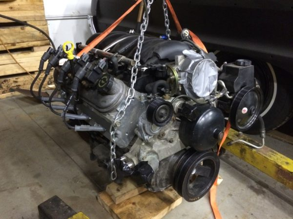 LS engine ready to be installed