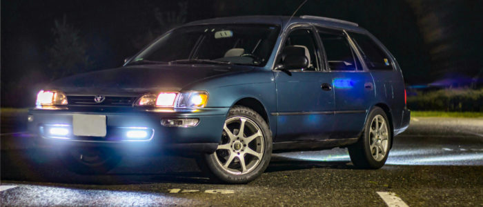 1995 Toyota Corolla At Night