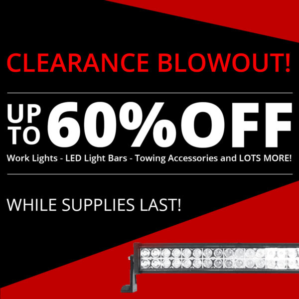 Save up to 60% off select items during our 2019 Clearance Blowout!