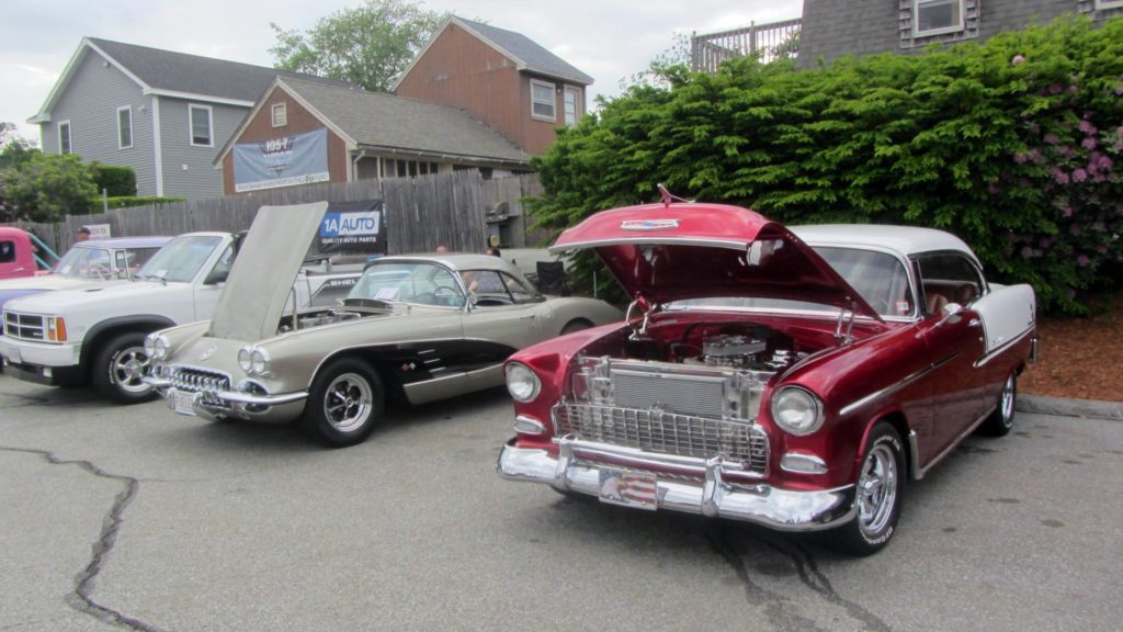 classic cars at a car show