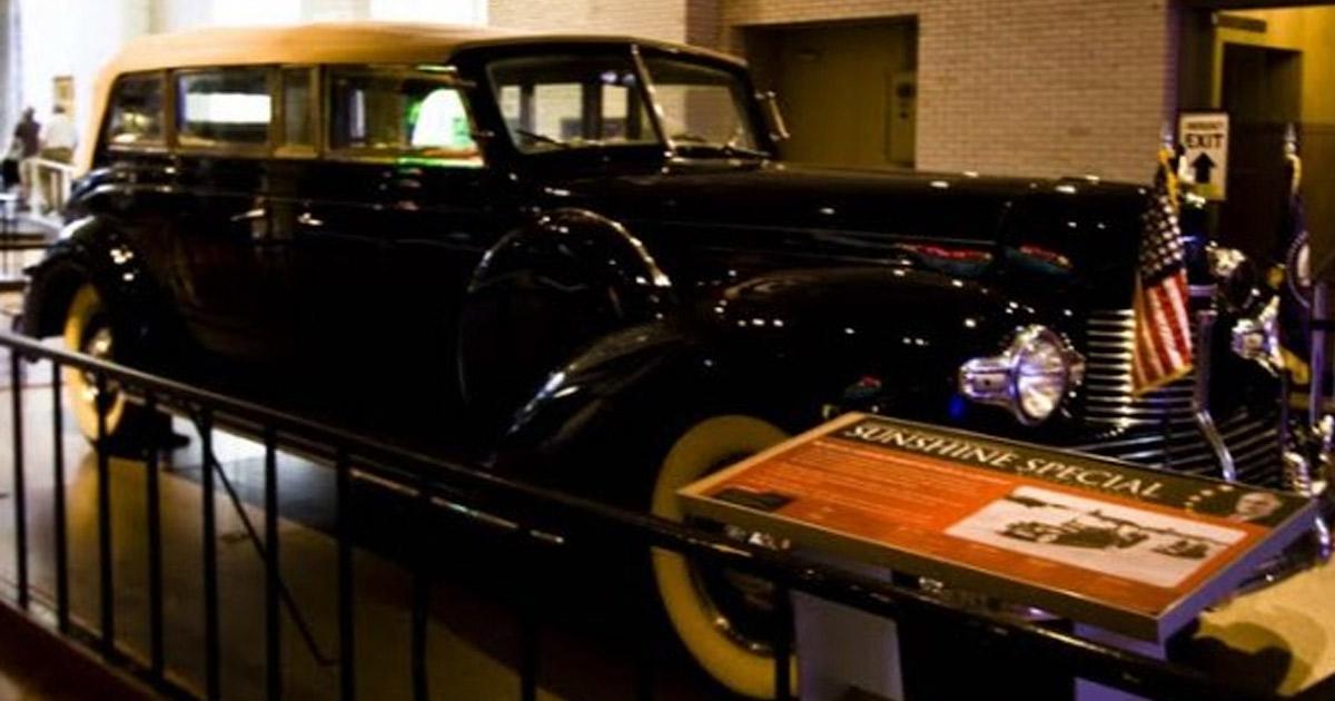 """President Franklin D. Roosevelt's """"Sunshine Special"""" limo."""