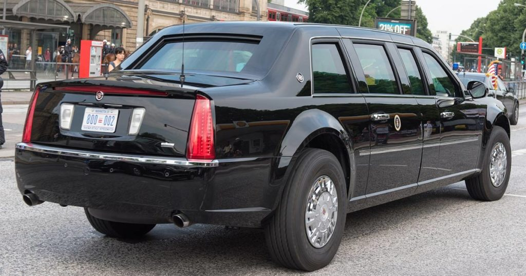"The modern presidential car, AKA ""The Beast."""