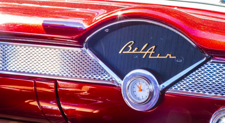 2019 1A Auto Charity Car Show - Red Chevrolet Bel Air