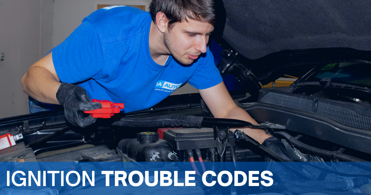 A technician checks a car's ignition coils after learning it has an ignition trouble code indicating an ignition coil issue.