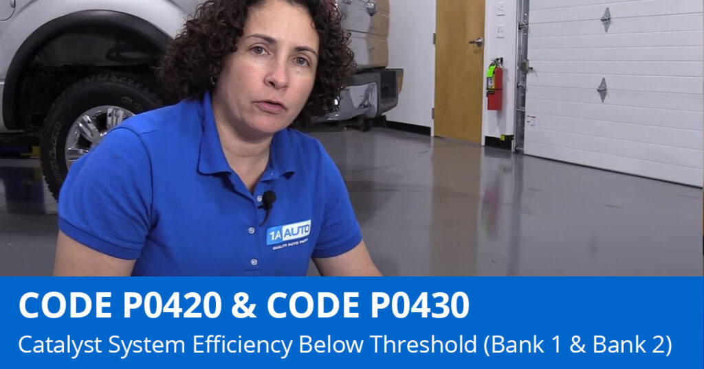 Mechanic discussing P0420 Code and P0430 Code