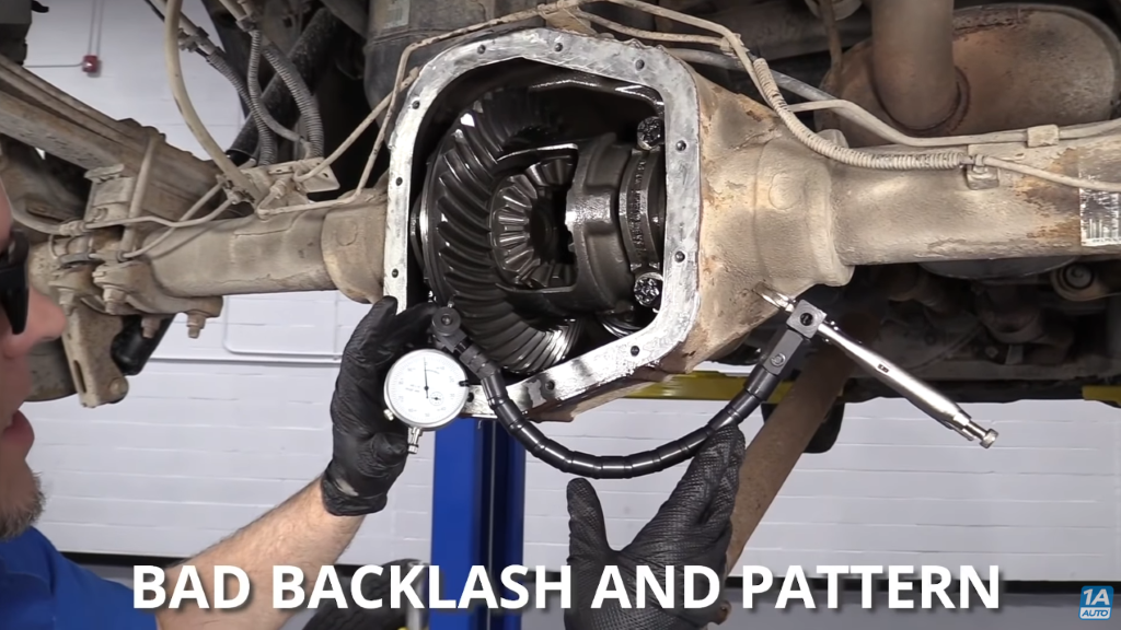 Bad and backlash pattern that causes rear end noise