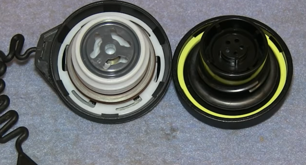 Two different gas caps