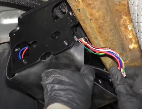 Air compressor and wiring for air suspension kit