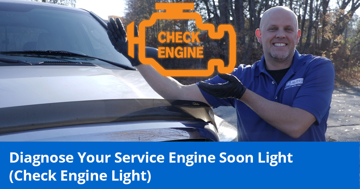 Mechanic Showing Check Engine Light or Service Engine Soon Light