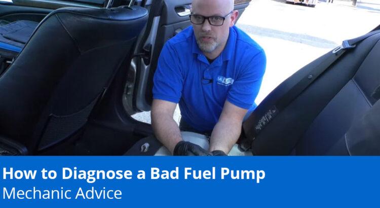mechanic diagnosing bad fuel pump