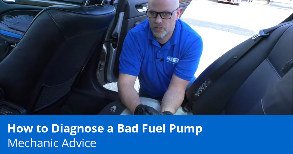 Mechanic showing how to test a fuel pump to see if it's bad
