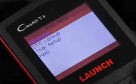 Car Tester or Scan Tool Read Out Screen