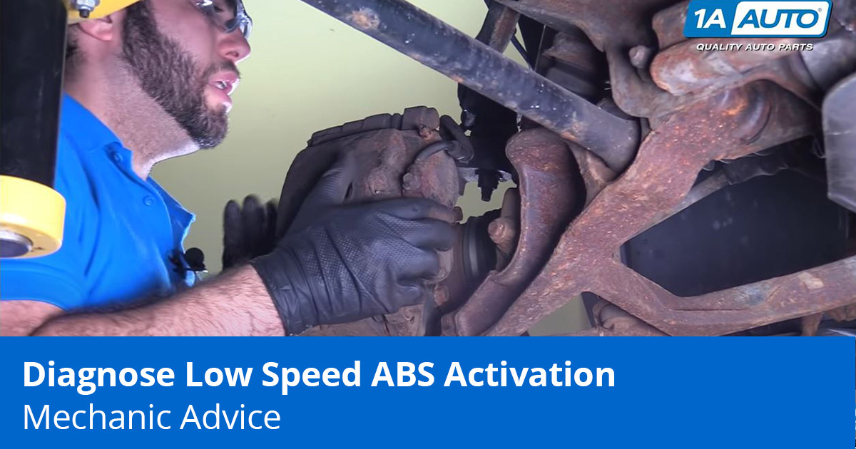 Chevy Truck ABS Brake Problems   - Mechanic showing how to diagnose Low Speed ABS Activation