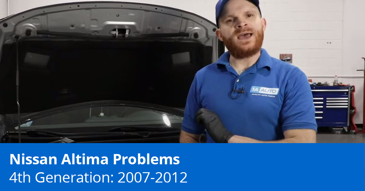 Common Nissan Altima Problems | 4th Generation (2007 to 2012)