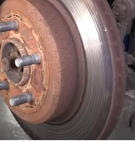 Brake Rotor with metal gouges