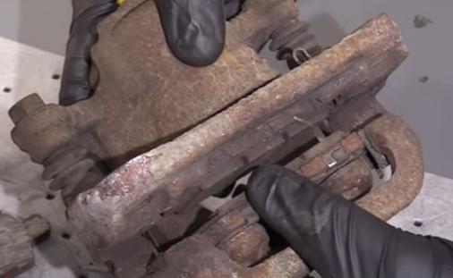 Stuck brake pads that can cause pulsating brakes