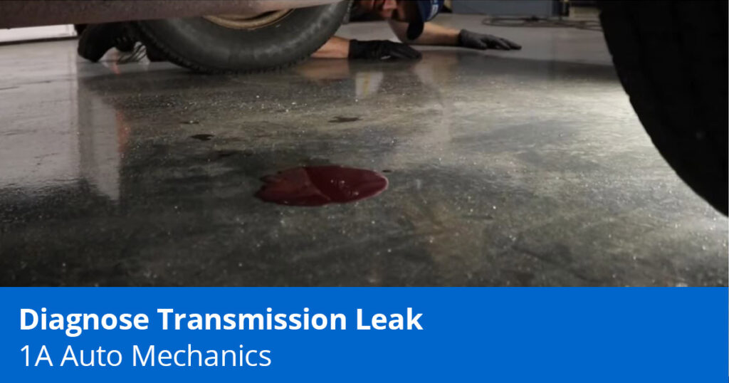 how to diagnose a transmission fluid leak