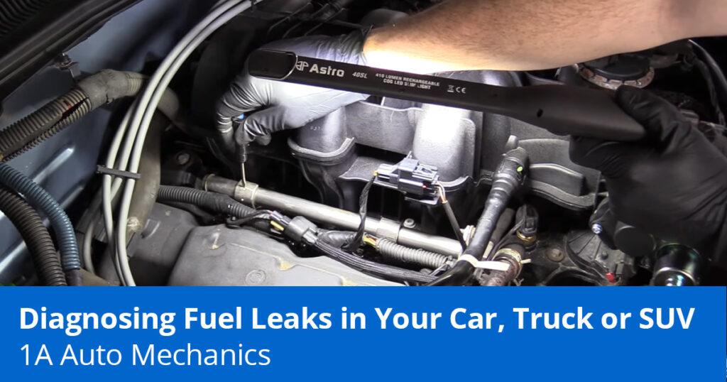 Diagnosing a car that smells like gas