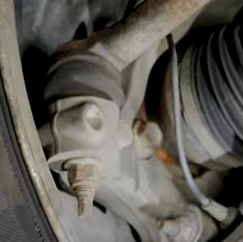 Wheel speed sensor on the front wheel of a 2nd gen 2010 to 2016 Buick LaCrosse
