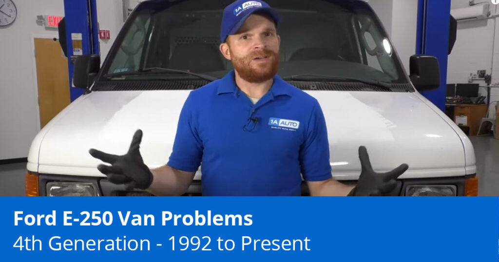 Mechanic explaining common Ford E-250 Problems