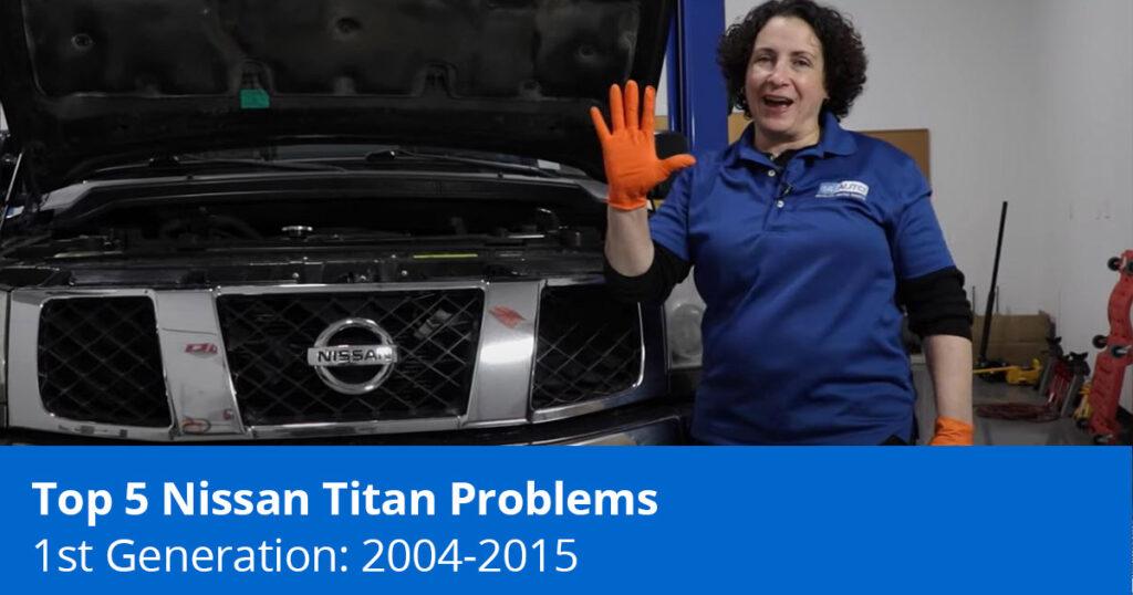 Mechanic showing common nissan titan problems