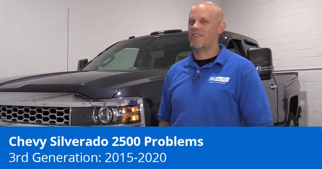 Mechanic showing Chevy Silverado 2500 Problems