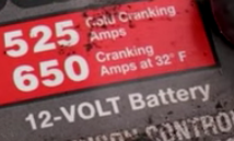 Smaller vehicle's battery's cranking amps