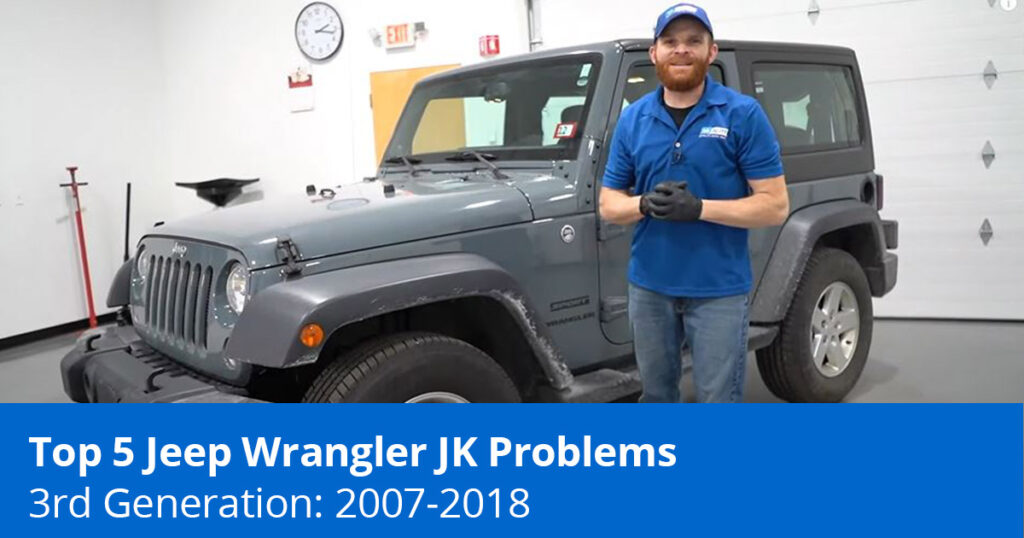 Mechanic showing Jeep Wranger JK Problems