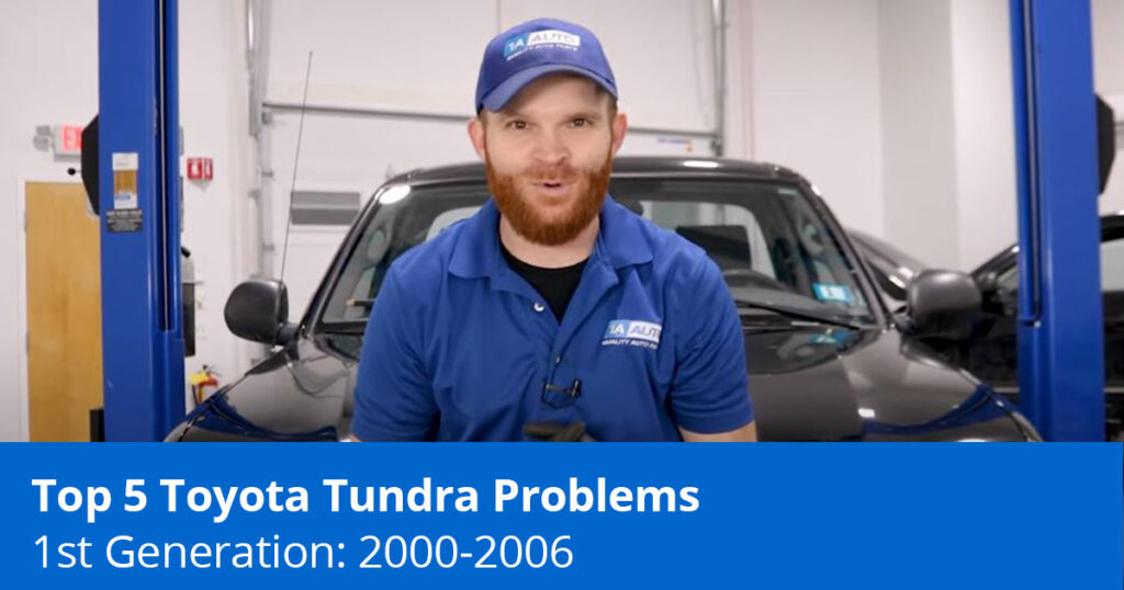 Mechanic showing Tundra 1st Gen Problems