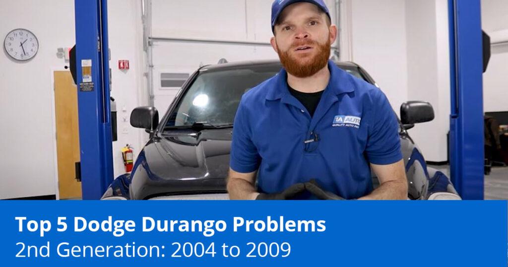 Mechanic showing the top 2nd gen durango problems