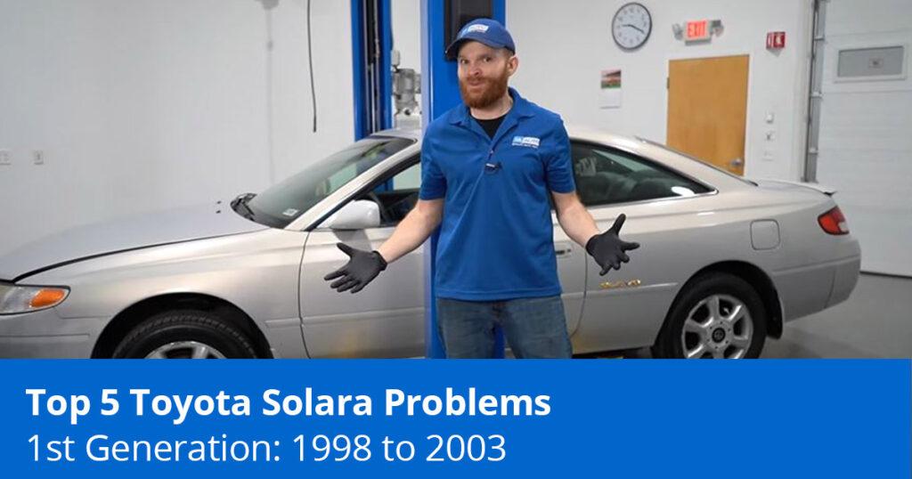Mechanic explaining toyota solara issues