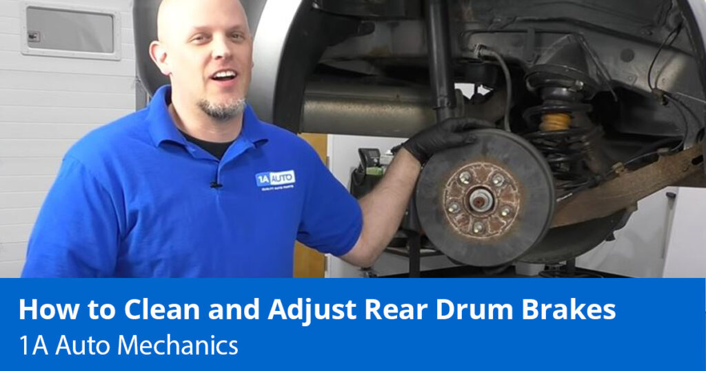 How to clean and adjust the drum brakes