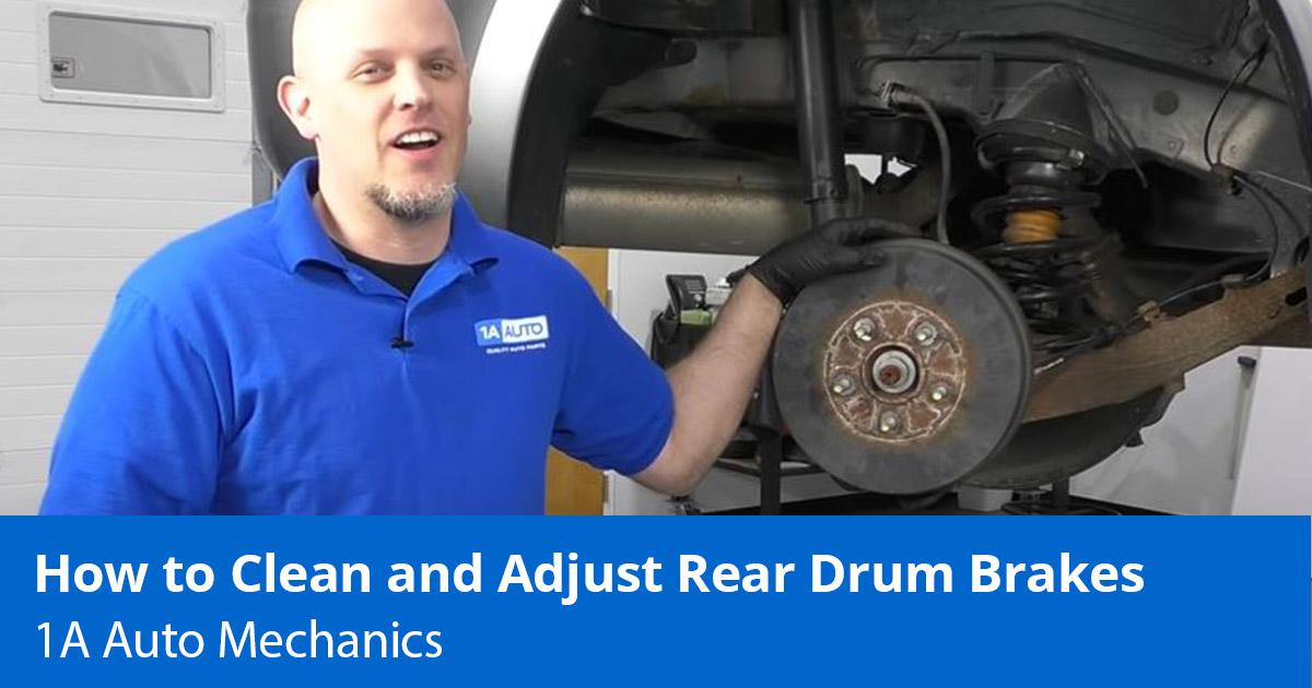 Rear Drum Brakes Adjustment - How to Clean and Adjust Drum Brakes