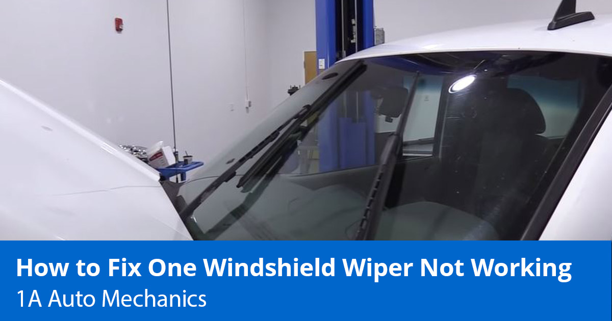 How to Fix One Windshield Wiper Not Working