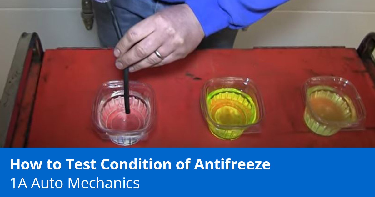 How to Use an Antifreeze Tester to Test Coolant - Expert Advice - 1A Auto