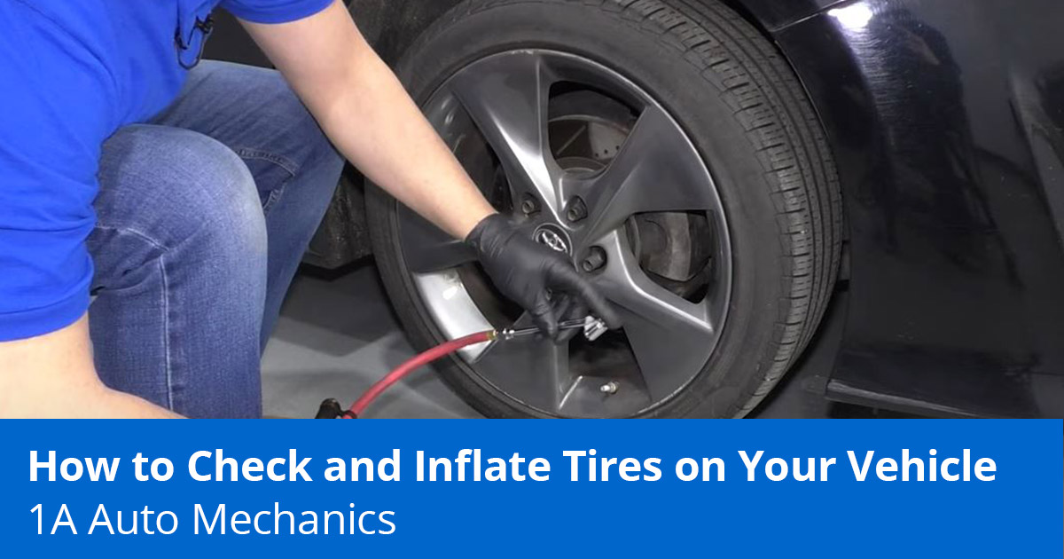 How to Check Tire Pressure - How to Put Air in a Tire - 1A Auto