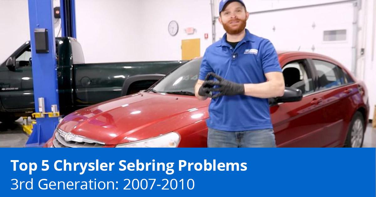 Top 5 Chrysler Sebring Problems - 3rd Generation Sedan (2007 to 2010) - 1A Auto