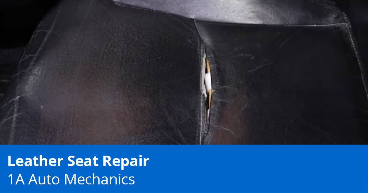 Leather Car Seat Repair - 3 Ways to Fix Torn Leather Car Seats - 1A Auto