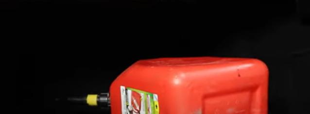 Spilt gas canister