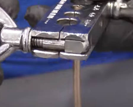 Bubble flaring a brake line with a bubble flare kit