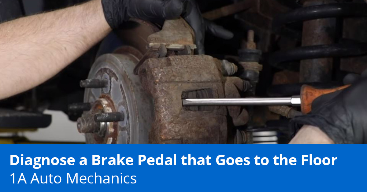 How to Fix a Soft Brake Pedal that Goes to the Floor - 1A Auto