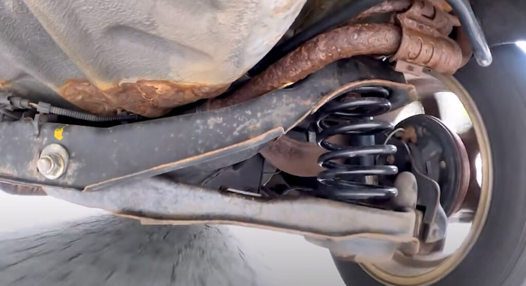 car driving with squeaking suspension